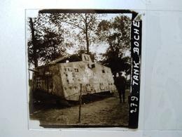 Guerre 1914-18 - CHAR/ TANK Allemand MÉPHISTO A7V- Plaque De Verre Stéréoscopique - TBE - Diapositiva Su Vetro