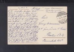 Feldpost Mill. Mission Konstantinopel 1916 Nach Berlin - Germany