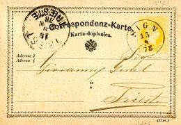 """SIGN 25mm 15.9.1878 Ruck """" """" - Ganzsachen"""