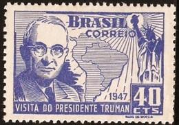 BRAZIL # 673 - VISIT OF PRESIDENT TRUMAN - 1947 -OG  MINT - Unused Stamps