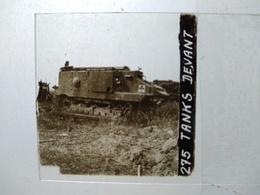 Guerre 1914-18 - Tank Schneider CA1 Devant Juvincourt - 1917 - Plaque De Verre StéréoscopiqueTBE - Diapositiva Su Vetro