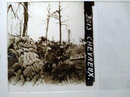 Guerre 1914-18- Poilus - Bois Chevreux - Chemin Des Dames - Plaque De Verre StéréoscopiqueTBE - Diapositiva Su Vetro