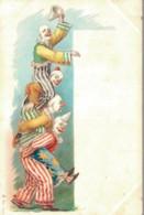 ILLUSTRATION DE ROICK PYRAMIDE DE CLOWNS PAS CIRCULEE - 1900-1949