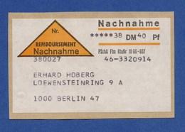 Frankfurt Am Main REMBOURSEMENT Nachnahme Aufkleber (23) - BRD