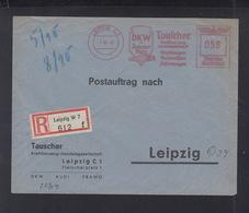 Dt. Reich R-Brief 1940 Leipzig Freistempel Tauscher DKW - Deutschland