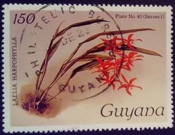 Guyana 1985 Fleur Flower Orchidée Orchid Yvert 1242 O Used - Guyane (1966-...)