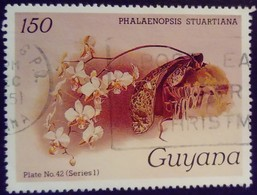 Guyana 1985 Fleur Flower Orchidée Orchid Yvert 1241 O Used - Guyane (1966-...)