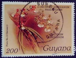 Guyana 1985 Fleur Flower Orchidée Orchid Yvert 1246 O Used - Guyana (1966-...)