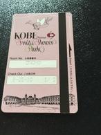 Hotelkarte Room Key Keycard Clef De Hotel Tarjeta Hotel JAPAN  FRUIT & FLOWER PARK KOBE - Telefonkarten