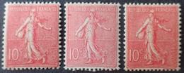 R1934/171 - 1903 - SEMEUSE FOND LIGNE - N°129 (type I II III) TIMBRES NEUFS** - Type III : TB CENTRAGE - Cote : 216,00 € - 1903-60 Semeuse A Righe