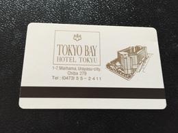 Hotelkarte Room Key Keycard Clef De Hotel Tarjeta Hotel JAPAN  TOKYO BAY TOKYO - Telefonkarten
