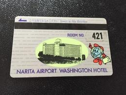 Hotelkarte Room Key Keycard Clef De Hotel Tarjeta Hotel JAPAN  NARITA AIRPORT WASHINGTON HOTEL - Telefonkarten