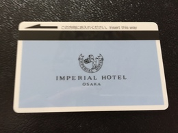 Hotelkarte Room Key Keycard Clef De Hotel Tarjeta Hotel JAPAN  IMPERIAL OSAKA Light Blue  PEANUTS - Telefonkarten
