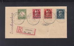 Bayern R-Brief 1920 Lichtenfels 1920 Nach Coburg - Bayern