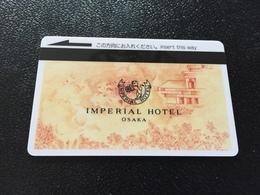 Hotelkarte Room Key Keycard Clef De Hotel Tarjeta Hotel JAPAN  IMPERIAL OSAKA Yellow Orange - Telefonkarten