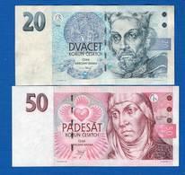 Tchéquie  2  Billets - Tchéquie