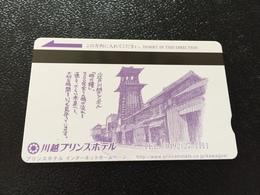 Hotelkarte Room Key Keycard Clef De Hotel Tarjeta Hotel JAPAN  KAWAGOE PRINCE - Telefonkarten