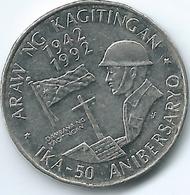 Philippines - 1 Piso - 1992 - 50th Anniversary Of The Battle Of Bataan - KM260 - Filippijnen