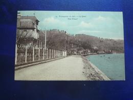 1924  VILLEQUIER LE QUAI COLORISEE  ETAT BON - Villequier
