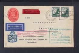 Dt. Reich Schleuderflug Olympia Vignette 1936 - Storia Postale