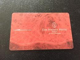 Hotelkarte Room Key Keycard Clef De Hotel Tarjeta Hotel JAPAN  THE STRINGS TOKYO - Telefonkarten