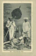 India, Native Hindu Mahratta Priest With Servants (1910s) Postcard - India