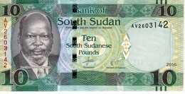 SUD SOUDAN - 10 Pounds 2016 - Série AV 2603142 - P.12b - UNC - Südsudan
