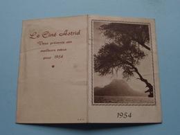 1954 > Le Ciné ASTRID Meilleur Voeux ( Imp. L A R > Zie Foto Voor Detail ) ! - Calendriers