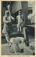 India, BENARES, Monkey Temple, Goat Sacrifice (1920s) Postcard - India