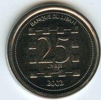 Liban Lebanon 25 Livres 2002 KM 40 - Liban