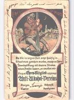 Alkoholismus, Anti-Alkohol, Anti-Alcohol - Humor Ehrendiplom  Ehrenmitglied Anti-Alkohol-Vereins 1900 - Gesundheit