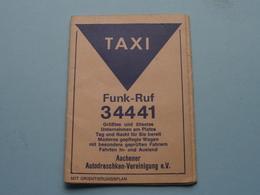 1968 > TAXI Funk-Ruf 34441 AACHENER Autodroschken-Verenigung E.V. ( Mit Orientierungsplan > Zie Foto Voor Detail ) ! - Petit Format : 1961-70