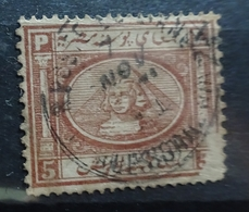 1867-69 Sphinx And Pyramid 5 Pi Brown 2 - Egypt