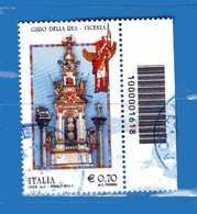 Italia- °-2014-  GIRO Della RUA Di VICENZA - Unif. 3567.  Usato.   Vedi Descrizione - 6. 1946-.. Repubblica