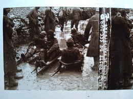 Guerre 1914-18 - Poste De Secours - Blessés - Côte De Froideterre - Plaque De Verre StéréoscopiqueTBE - Diapositiva Su Vetro