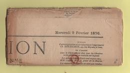 L'union De L'Yonne - 2c Ceres Impression Typographique - 9 Fevrier 1876 - Journal Complet - Marcofilia (sobres)