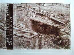 Guerre 1914-18 - Dortoir En Plein Air - Fleury - Plaque De Verre StéréoscopiqueTBE - Diapositiva Su Vetro