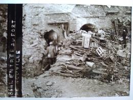 Guerre 1914-18 - Entrée D'un Fort - Plaque De Verre StéréoscopiqueTBE - Diapositiva Su Vetro