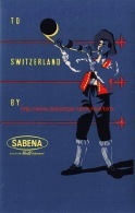 To Switzerland By Sabena - Étiquettes à Bagages