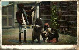 India, Bhaloowallahs, Native Juggler Juggling, Bear Tamer, Dancing Bear (1910s) - India