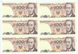 Billet Neuf De Banque De 100 Zlotych 1975-1988 - Pologne