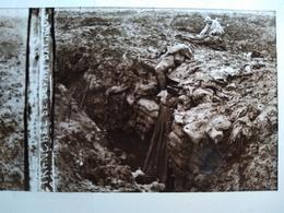 Guerre 1914-18 - Tranchée De Départ D'attaque - Cadavres- Plaque De Verre StéréoscopiqueTBE - Diapositiva Su Vetro