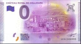 ... BILLET 2015-1 ... CHATEAU ROYAL DE COLLIOURE .. 66 ... N° UEBC008993 ... - EURO