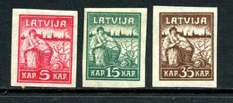 Lettonie 1919 Y&T 34 35 36 * - Lettonie