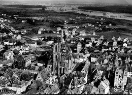 CP - 67-Selestat-vue Générale Aérienne-au Centre, La Cathédrale   ( écrite En 1955) - Selestat