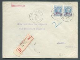 Lettre Recommandée HOUYOUX à 3Fr. Obl. Sc OOSTENDE 3 Le 15-VII-27 Vers Paris  - 14279 - 1922-1927 Houyoux