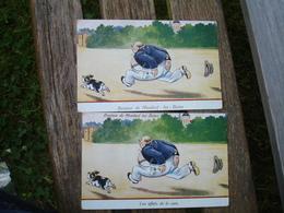 Lot 2 Cartes Mondorf Les Bains Effets Cure Illustrateur - Mondorf-les-Bains