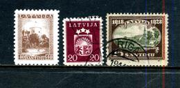 Lettonie 3 Timbres ° - Lettonie