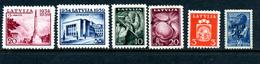 Lettonie 6 Timbres * 1939-41 - Lettonie