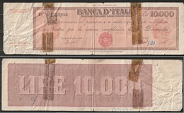 Titolo Provvisorio Al Portatore Da Lire 10.000  (qualità Mediocre Come Da Fotografia) - 10000 Lire